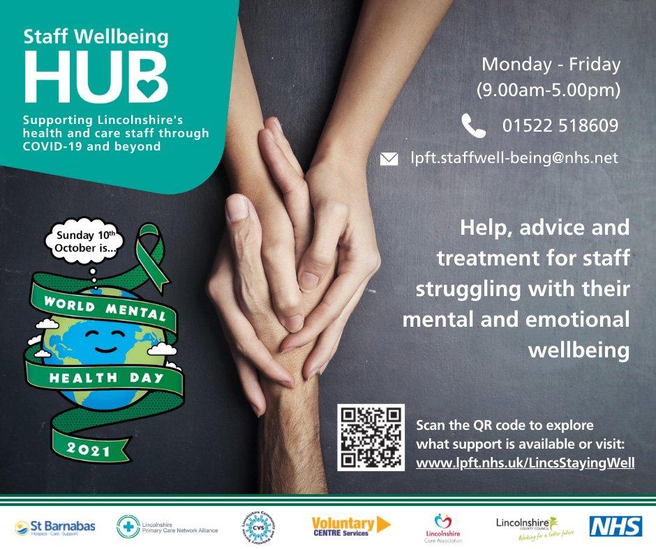 Staff wellbeing hub WMHD social media graphic